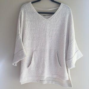 Free People Sweaters - Oversized ivory dolman v neck sweater